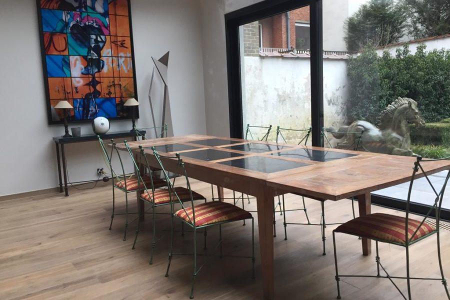 Pose d'un plancher contemporain 13 | Parquet. Nos réalisations | Carreaux de Style