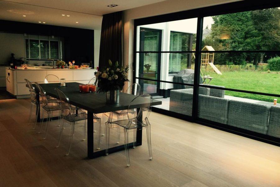 Pose d'un plancher contemporain 11 | Parquet. Nos réalisations | Carreaux de Style
